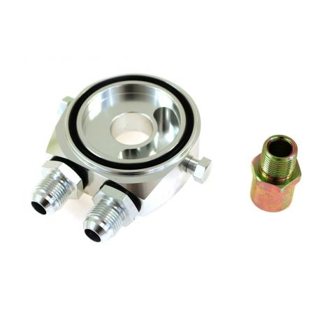The oil filter adapters The oil filter adapter input/output AN8 | races-shop.com