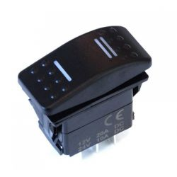 Universal rocker switch with LED