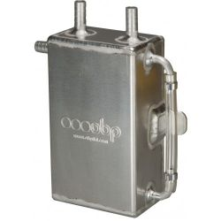 Oil catch tank OBP motorsport with 13mm outputs - capacity 1l, baffled