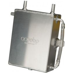 Oil catch tank OBP motorsport with 13mm outputs - capacity 2l, baffled