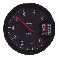 STACK ST200 Clubman tachometer gauge 80mm, 0-8000rpm - black