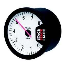 STACK ST200 Clubman tachometer gauge 80mm, 0-8000rpm - white