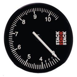 STACK ST200 Clubman tachometer gauge 80mm, 0- 4 -10500rpm - black