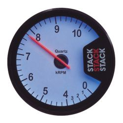 STACK ST200 Clubman tachometer gauge 80mm, 0- 4 -10500rpm - white