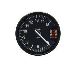 STACK ST200 Clubman tachometer gauge 80mm, 0- 6 -15000rpm - black