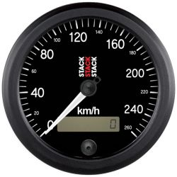 STACK Professional speedometer gauge 80mm - black