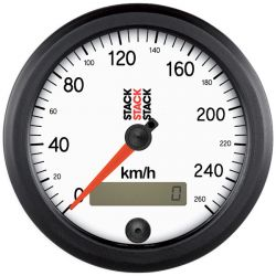 STACK Professional speedometer gauge 80mm - white