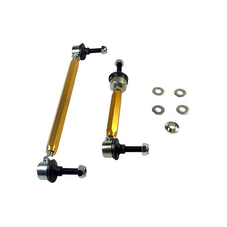 Whiteline Sway bar - link assembly 50mm lift heavy duty adj steel ball | races-shop.com