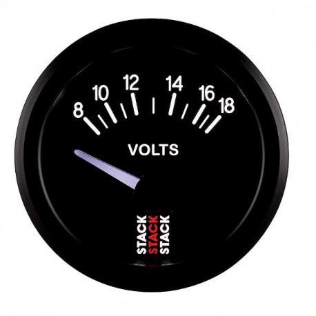 GAUGES STACK standard SERIES 52MM STACK gauge battery voltage 8- 18V (electrical) | races-shop.com
