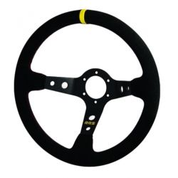 Steering wheel RRS Rally, 350mm, suede, 90mm deep dish
