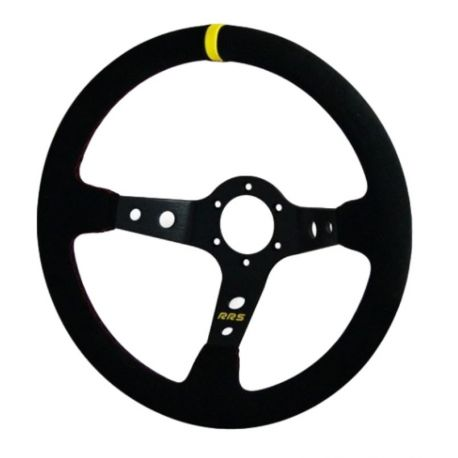 steering wheels Steering wheel RRS Rally, 350mm, suede, 90mm deep dish | races-shop.com