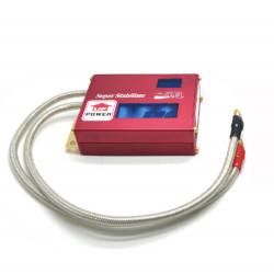 Voltage stabilizer with voltage display