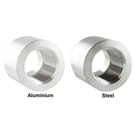 Fittings for welding Weld on fitting- female 3/8 NPT, aluminium, steel | races-shop.com