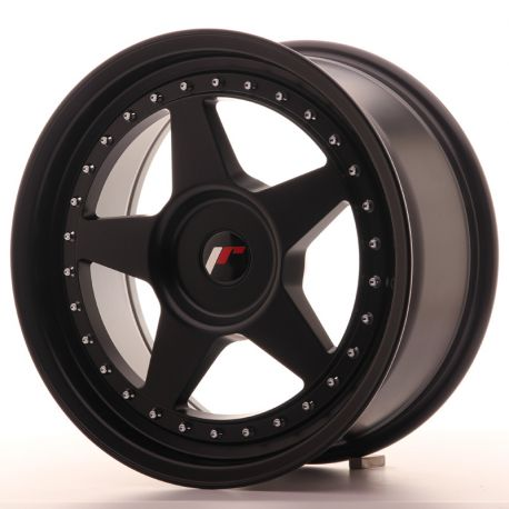 Japan Racing aluminum wheels JR Wheel JR6 17x8 ET35 Blank Matt Black | races-shop.com