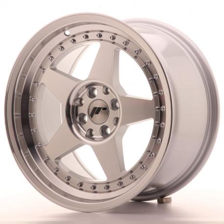Japan Racing aluminum wheels JR Wheel JR6 17x9 ET20 4x100/108 Machined Sil | races-shop.com