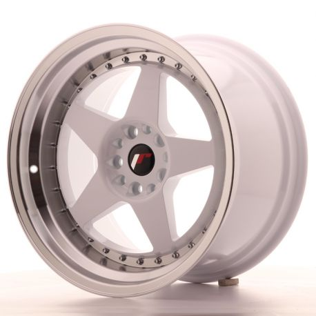 Japan Racing aluminum wheels JR Wheel JR6 18x10,5 ET25 5x114,3/120 White | races-shop.com