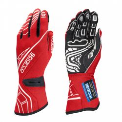 Race gloves Sparco LAP RG-5 with FIA red