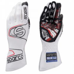 Race gloves Sparco Arrow EVO RG-7 with FIA (outside stitching) white
