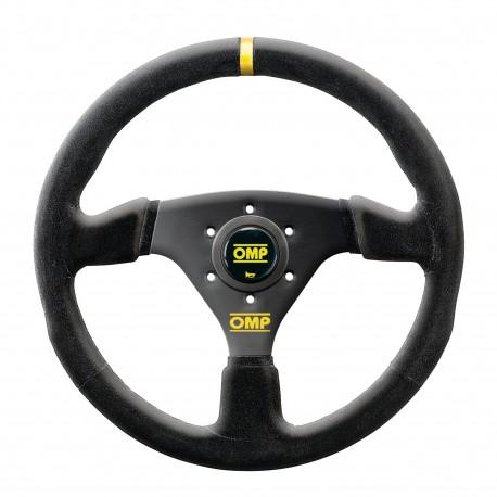 steering wheels 3 spokes steering wheel OMP Targa 330, 330mm suede, Flat | races-shop.com