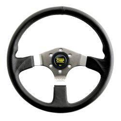 3 spokes steering wheel OMP Asso, 350mm Polyurethane, Flat