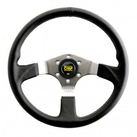 steering wheels 3 spokes steering wheel OMP Asso, 350mm Polyurethane, Flat | races-shop.com