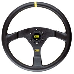 3 spokes steering wheel OMP VELOCITA , 350mm Leather, Flat