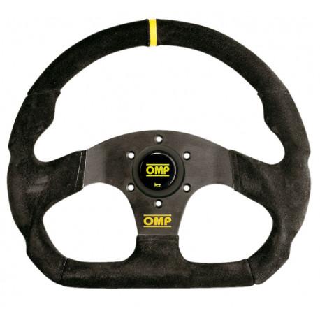 steering wheels 3 spokes steering wheel OMP Super Quadro, 330x290mm suede, Flat | races-shop.com