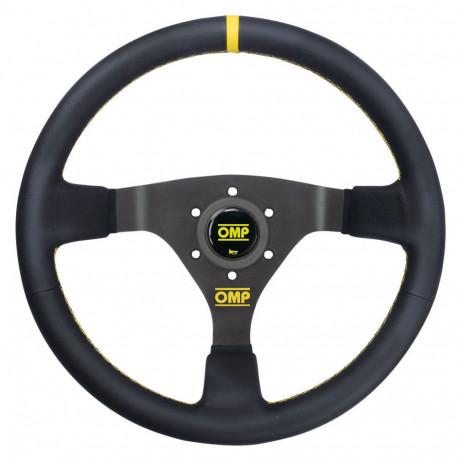 steering wheels 3 spokes steering wheel OMP WRC, 350mm Leather, 70mm | races-shop.com