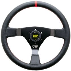 3 spokes steering wheel OMP WRC, 350mm Leather, 70mm