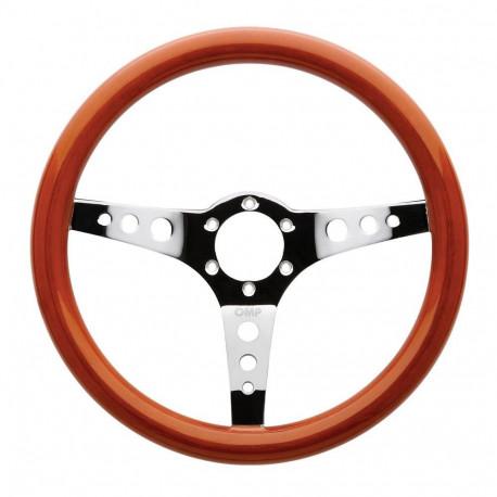 steering wheels 3 spokes steering wheel OMP Mugello, 350mm Wood, Flat   races-shop.com