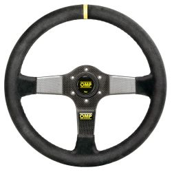 3 spokes steering wheel OMP Carbon D, 350mm suede, 95mm