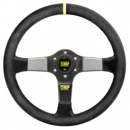 steering wheels 3 spokes steering wheel OMP Carbon D, 350mm suede, 95mm | races-shop.com