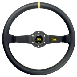 2 spokes steering wheel OMP Rally, 350mm Leather, 95mm