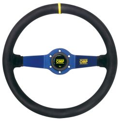 2 spokes steering wheel OMP Rally, 350mm suede, 95mm