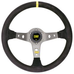3 spokes steering wheel OMP Corsica, 350mm suede, 95mm