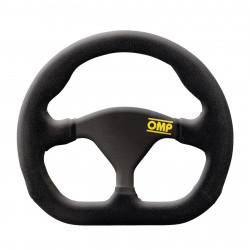 3 spokes steering wheel OMP Formula Quadro, 250x200mm Polyurethane, Flat