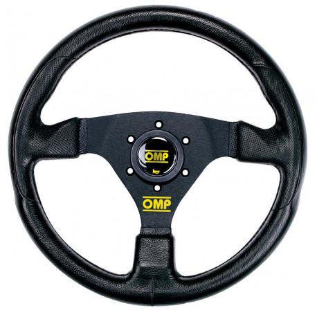 steering wheels 3 spokes steering wheel OMP RACING GP, 330mm Polyurethane, Flat   races-shop.com