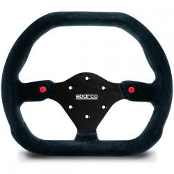 3 spokes steering wheel Sparco P310, 310mm suede, Flat