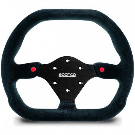 steering wheels 3 spokes steering wheel Sparco P310, 310mm suede, Flat | races-shop.com