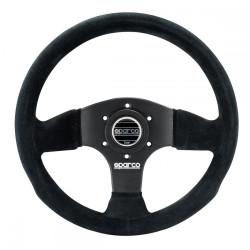 3 spokes steering wheel Sparco P300, 300mm suede, Flat
