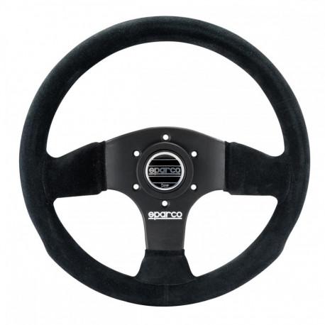steering wheels 3 spokes steering wheel Sparco P300, 300mm suede, Flat   races-shop.com
