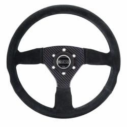 3 spokes steering wheel Sparco CARBON 385, 330mm suede, Flat
