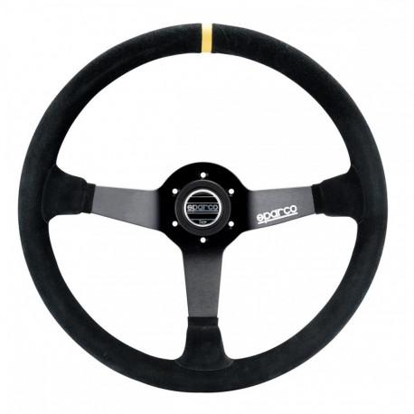 steering wheels 3 spokes steering wheel Sparco R368, 380mm suede, 65mm | races-shop.com