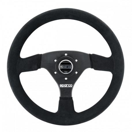 steering wheels 3 spokes steering wheel Sparco R323, 330mm suede, 39mm | races-shop.com