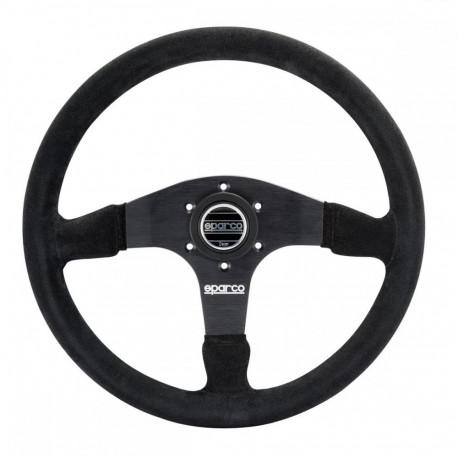 steering wheels 3 spokes steering wheel Sparco R375, 350mm suede, 36mm | races-shop.com