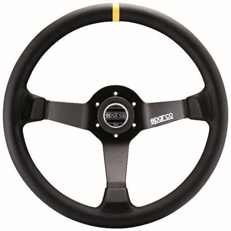 steering wheels 3 spokes steering wheel Sparco R345, 350mm Leather, 63mm | races-shop.com