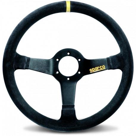 steering wheels 3 spokes steering wheel Sparco R345, 350mm suede, 63mm | races-shop.com