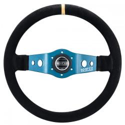 2 spokes steering wheel Sparco L555, 350mm suede, 90mm