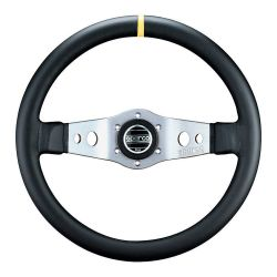 2 spokes steering wheel Sparco L555, 350mm Leather, 90mm