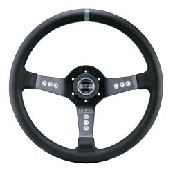 3 spokes steering wheel Sparco L277, 350mm Leather, 63mm